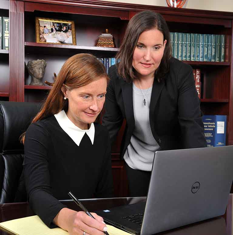 Jane Smedley Anzalone and Caelie McCormick Sweigart | Anzalone Law Offices, LLC | Personal Injury Attorneys